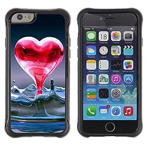 Pulsar Defender Series Tpu silicona Carcasa Funda Case para Apple iPhone 6(4.7 inches) , Heart of liquid water