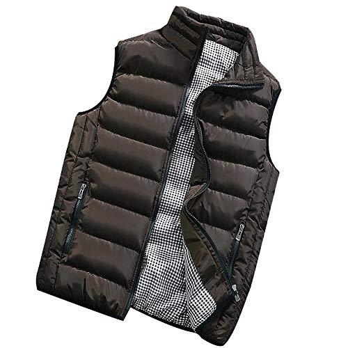 vest coat men autumn winter padded cotton