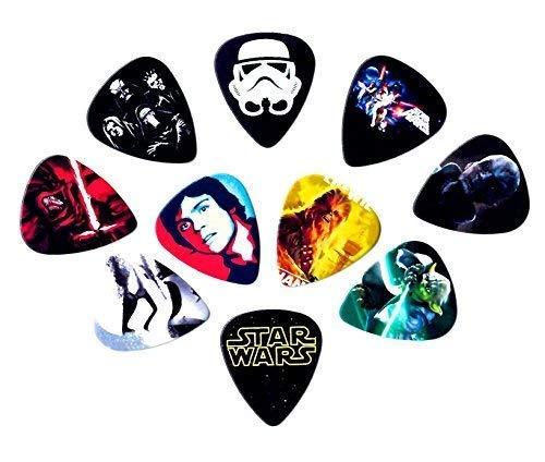 Printed Guitar Pick Picks - Star Wars Guitar Picks [10 perfectly printed medium picks in a packet]