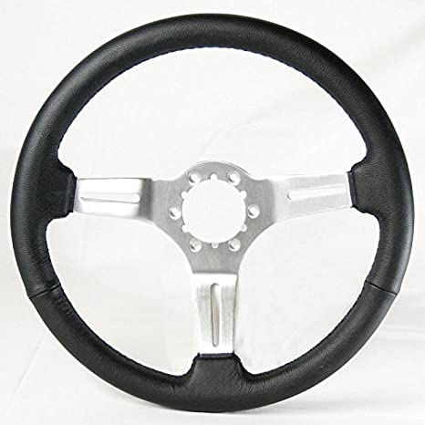 Ecklers Premier Quality Products 25-112391 Corvette Steering Wheel Mahogany With Chrome Plated Aluminum Spokes
