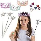 Tigerdoe Rhinestone Plastic Rings - Princess Rings - Princess Accessories - Princess Theme Party Favors - Bulk Assorted Toy Rings (12 Pc Princess Set)