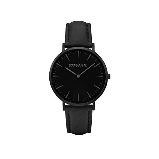 The Friday Firday Reloj de pulsera para mujer, color negro, moderno, de cuarzo, ideal para vestidos de fiesta, ideal como regalo: Amazon.es: Relojes