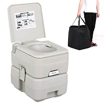 tinkertonk 5 Gal 20L Portable Outdoor Camping Recreation Toilet ...