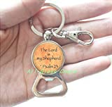 bottle opener lord of the rings - Scripture Bottle opener Key Ring - Psalm 23 Bottle opener Keychain - The Lord is my Shepherd - Bible Verse Bottle opener Keychain - Bible Quote Jewelry - Comfort and Hope Bottle opener Keychain,AS0212