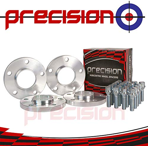 Precision 15mm Hubcentric Spacers 2 Pairs E87 E88 PN.SFP-4PHS4+20BM1740111 E82 E88 E81 E82 E87 Bolts for ƁMW 1 Series Alloy Wheels E81
