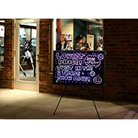 32x24 Large Flashing Illuminated Erasable Neon LED Writing Board Menu Sign with Control Button (A Complete Set-8 8mm Fluorescent Marker Pens Included)(7 Colors and Flashing Mode) by Autolizer