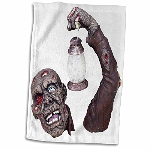 3dRose Blonde Designs Happy and Haunted Halloween - Halloween Gory Zombie - 12x18 Hand Towel (twl_131221_1) (Gory Halloween Dishes)