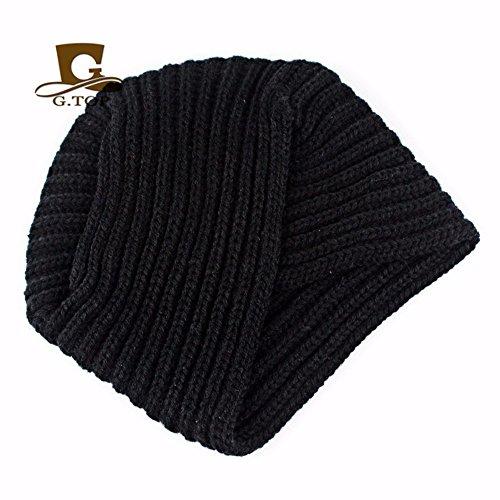 Punto De India Baotou OSISDFWA A Sombreros Sombreros Hecha De Mano Gorros Baotou schwarz Moda Para Black La Sombrero YvaagwIq