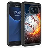 S7 Case,Galaxy S7 Case,Rossy Heavy Duty Hybrid TPU Plastic Dual Layer Armor Defender Protection Case Cover for Samsung Galaxy S7 2016,Baseball Sports