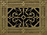 Decorative Grille, Vent Cover, or Return Register. Made of Urethane Resin to fit over a 4''x6'' duct or opening. Total size of vent is 6''x8''x3/8'', for wall and ceiling grilles (not for floor use).