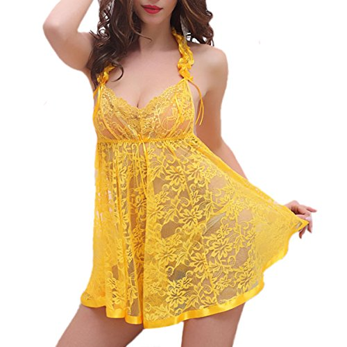 Yellow Baby Doll Dress - 3
