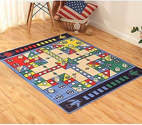 CAIZHIXIANG Base Flying Chess Monopoly Carpet Parenting Biz Desktop Desktop Chess Game Pad cálida Alfombra (Color : Blue, Size : 100x130cm Deluxe Edition): Amazon.es: Hogar