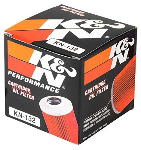KN-132 K/&N Performance Oil Filter; POWERSPORTS CARTRIDGE Powersports Oil Filters