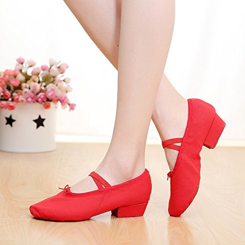 Yoga Teacher Black dance soft teachers bottom Red Shoes Canvas with shoes shoes Belly Kungfu Shoes Dance Female laces canvas Pink vnAqUwfRRg