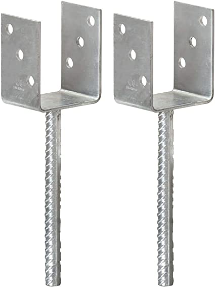 Silbern Pfostenanker U-Form U-Anker Pfostentr/äger f/ür Carport Zaun 7/×6/×15 cm Verzinkter Stahl Bulufree Pfostentr/äger 12 STK