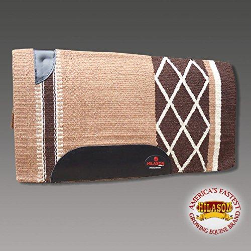 HILASON Western New Zealand Wool Horse Saddle Blanket Beige Brown