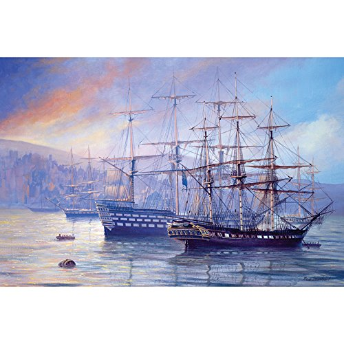 (Bits and Pieces - 1000 Piece Jigsaw Puzzle for Adults - Frigate and First Rate - 1000 pc Ships, Boats Jigsaw by Artist Rob Johnson)