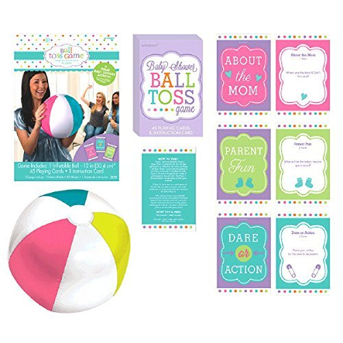 Amscan Delightful Question Ball Game Baby Shower Party Novelty Favors, 12