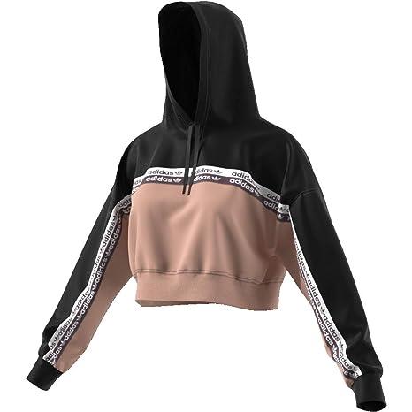 Sweat à Capuche Femme Adidas Cropped Originals: Amazon.fr ...