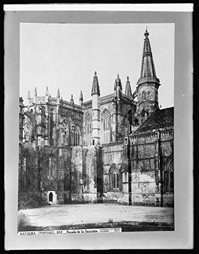 Vintography 8 x 10 Reprinted Old Photo Spain, Fasade Sacristy, Batalha 1918 National Photo Co 61a by Vintography