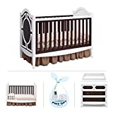 Simmons Kids Hollywood 4-Piece Nursery Furniture Set including FREE Baby Monitor (ships separately) Crib, 4 Drawer Dresser, Changing Top and Guardrail, White/Espresso