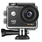 Action Camera HD 1080P Sports Camera Waterproof 30M (IP68) Underwater Camera 12Mp Motorcycle Helmet WiFi Action Cam Bike Forehead Cycling Snorkeling Climbing with Mounting Kit for Kids...