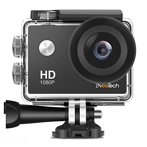 Action Camera HD Wifi 1080P Sports Camera Waterproof 30M Underwater Camera 12Mp Motorcycle Helmet Action Cam Bike Forehead Cycling Snorkeling Climbing with Mounting Kit for Kids DveeTech by DveeTech