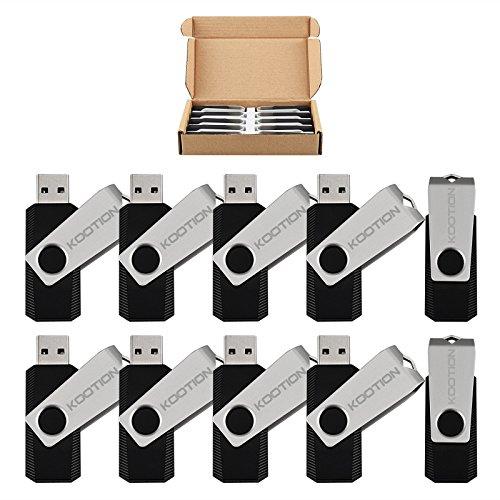 Wholesale 10 Pack 8GB Flash Drive Thumb Drive Flash Drives Swivel Memory Stick, Black