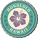 Honolulu Hawaii Vintage Label Home Decal Vinyl Sticker 12'' X 12''