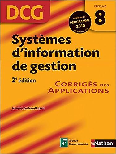 Livres SYST INFORM GEST EP 8 DCG CORR epub, pdf