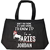 I'd Know It I'm An Aries Woman Named Jordan Gift - Tote Bag With Zip