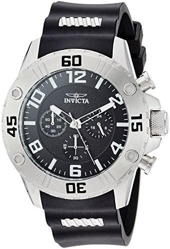 Invicta Men s Pro Diver Stainless Steel Quartz Watch with Silicone Strap, Black, 0.92 Model 22696