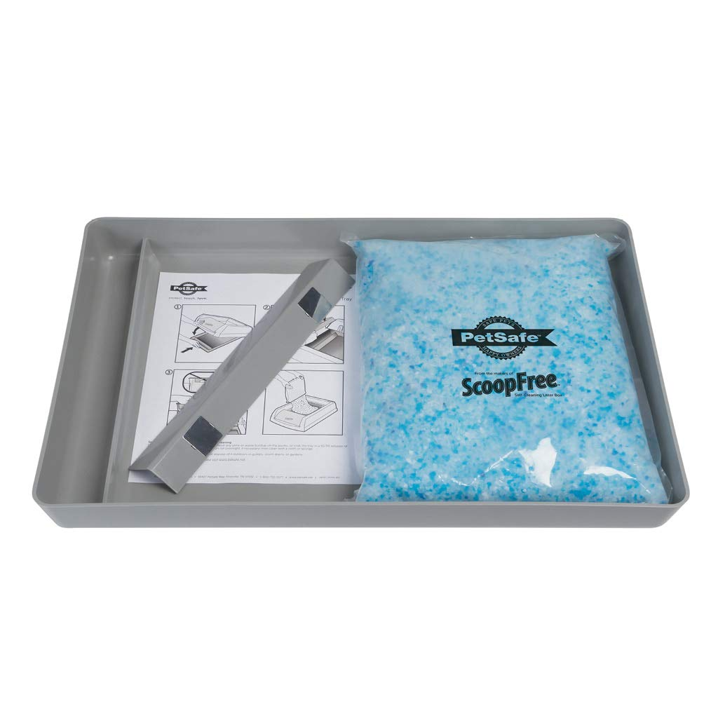 PetSafe ScoopFree Reusable Cat Litter Tray with Premium Blue Non Clumping Crystal Cat Litter - ZAC60-15710 by PetSafe