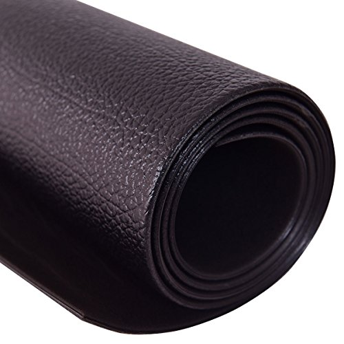 Goplus Treadmill Mat for Hardwood Floors High Density PVC Floor Protector Pad for Exercise Equipment Waterproof for Home and Gym Use, Large Size (Black, 6.5' x 3' x 0.25'')