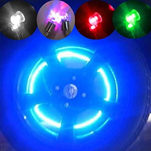 [해외]투피스 밝은 자전거 자전거 휠 타이어 타이어 밸브 캡 led 네온 플래시 라이트 센서 충격 휠 풍선 밸브 led 조명 6 AG10 단추 건전지 / 2 piece bright bike wheel tire tire valve cap led neon flash light sensor shock wheel inflatable valve l...