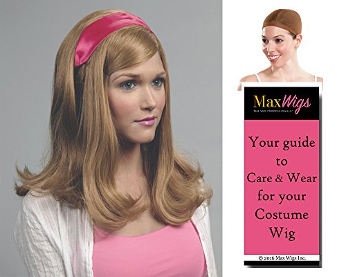 Velma From Scooby Doo Costumes (Dafne Scooby Doo Color Strawberry Blonde - Enigma Wigs Women's Dafne Blake Cartoon Gellar Bundle with Wig Cap, MaxWigs Costume Wig Care Guide)