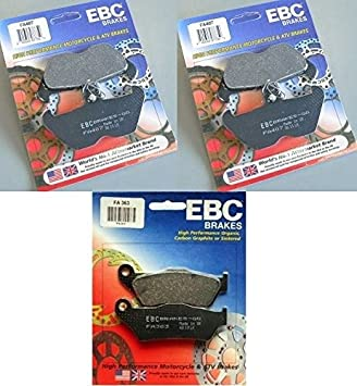 FA363 3 Sets 1994-2001 BMW R1100RT // FA407 Rear Brake Pads EBC Kevlar Front