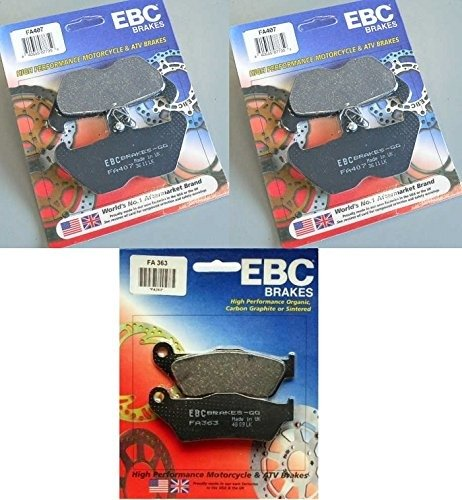 EBC Kevlar Front + Rear Brake Pads (3 Sets) 1994-2001 BMW R1100RT / FA407 + FA363