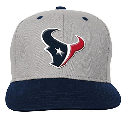 (Outerstuff NFL Youth Boys Team Flatbrim Snapback Hat-Deep Obsidian -1 Size, Houston Texans)