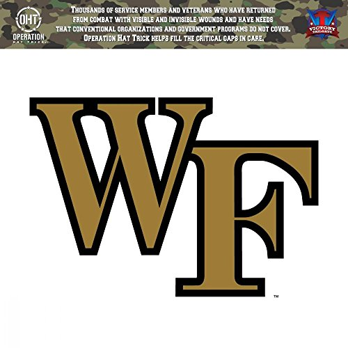 (Victory Tailgate Wake Forest Demon Deacons Operation Hat Trick OHT Die Cut Vinyl Decal (6x6))