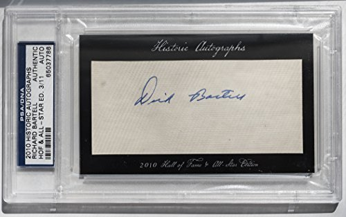 - Dick Bartell 2010 Historic Autographs PSA/DNA Authentic Auto 3/11 New York Giants