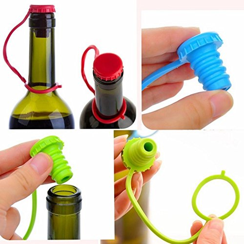 Jd Million Shop New Kitchen Anti Lost Silicone Hanging Button Seasoning Beer Wine Cork Stopper Plug Bottle Cap Cover Perfect Home Kitchen Tools