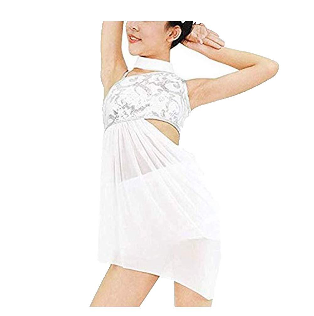 品揃え豊富で TiaoBug キッズ ガールズ リリカル お祝い モダン コンテンポラリー ダンス 衣装 フローラル スパンコール ダンス スパンコール お祝い スピリット プライズ リリカル ダンス ドレス B07GQ4N2KD 8|ホワイト ホワイト 8, きどーるBy質タケイ:7483f3db --- a0267596.xsph.ru