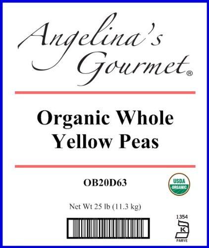 Organic Whole Yellow Peas - 25 Pound Bag