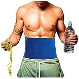 Neoprene Waist Trimmer Belt Ab Trainer - Belly Fat Burning Sauna - Small, Waist 28