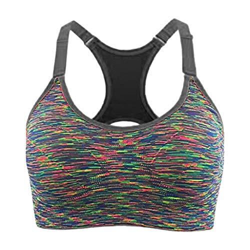- Women's Yoga Bra Strappy Longline Sport Bra Medium Impact Workout Tops Gray