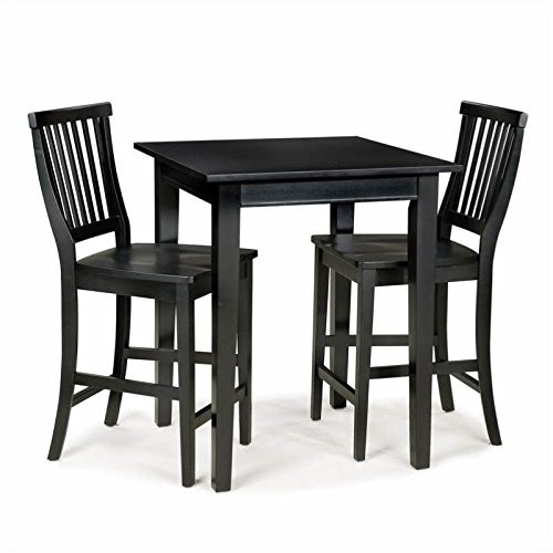 Bowery Hill 3 Piece Pub Set in Ebony