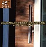 Pull Push 48 inches Handles for Entrance Entry Front Door, Interior and Exterior, Satin Finish, Storefront Door, Commercial Entry Gate and Office Door, Modern and Decent Design Rectangle Style.