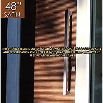 modern front door handles. Pull Push 48 Inches Handles For Entrance Entry Front Door, Interior And Exterior, Satin Modern Door