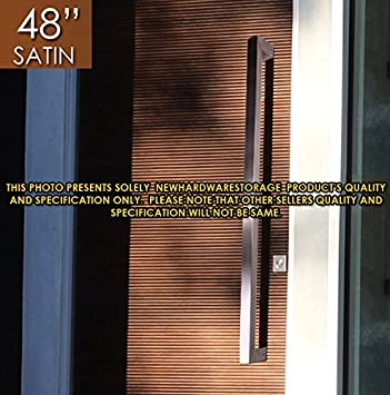 office front doors. Pull Push 48 Inches Handles For Entrance Entry Front Door, Interior And Exterior, Satin Office Doors